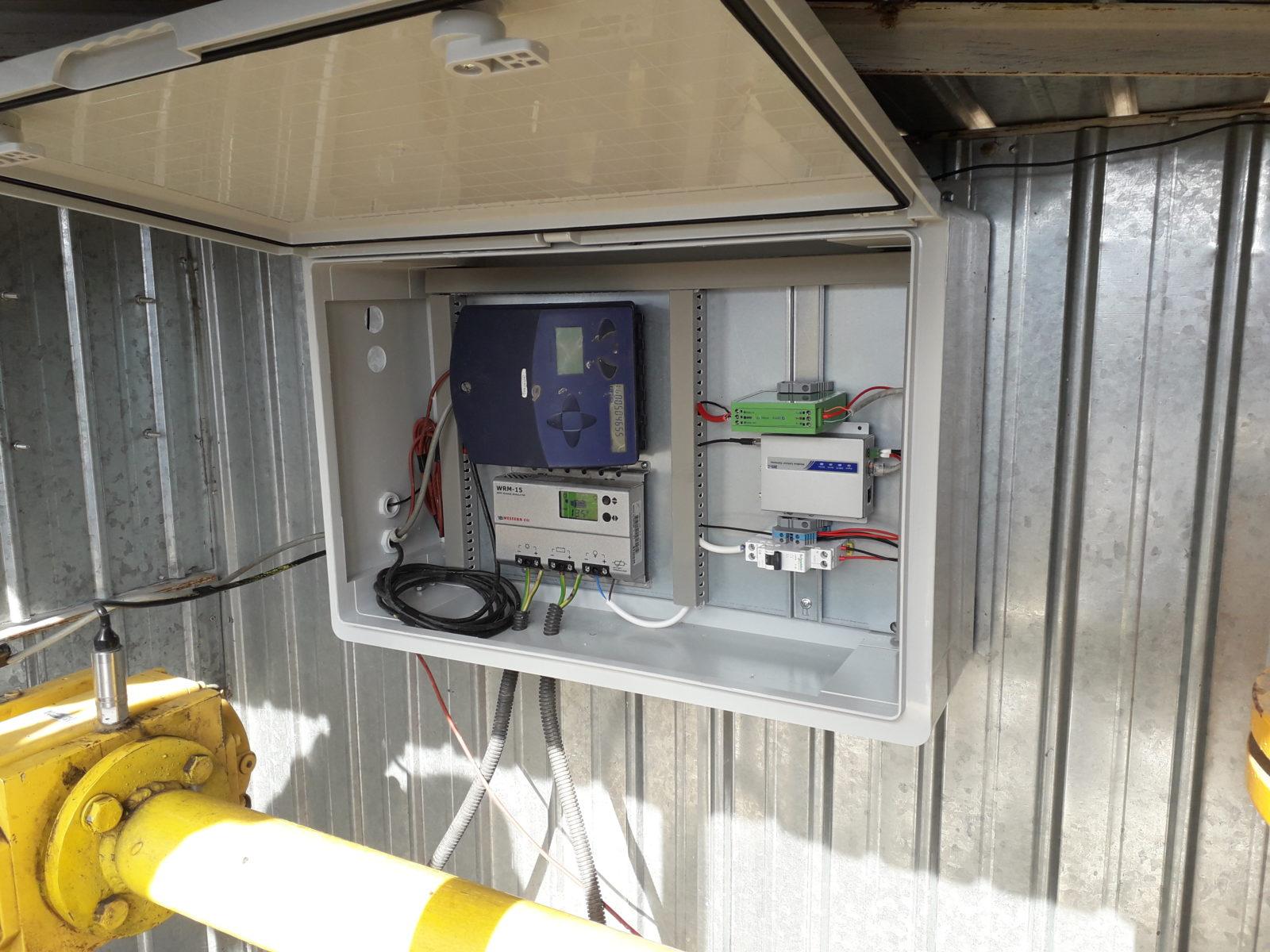 Tablou BlueMonitor echipamente telecitire corectoare volum gaz